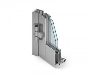 aliuminiai langai durys mb 60