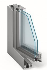 aliuminiai langai mb 60